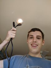 Me Holding a Power Cable