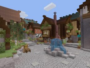 A Small Community in Minecraft