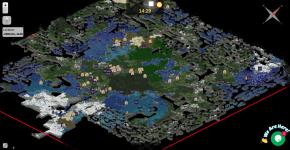 The Dynmap on my Minecraft Server