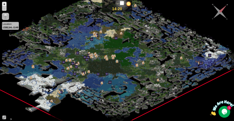 How to Have a Live Dynamic Map of Your Minecraft Server