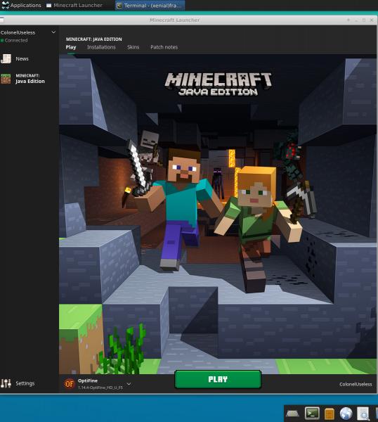 Minecraft Launcher on xfce4