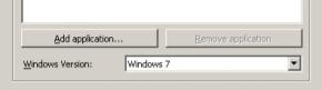 Windows Version is Set to Windows 7