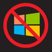 My No Microsoft Logo