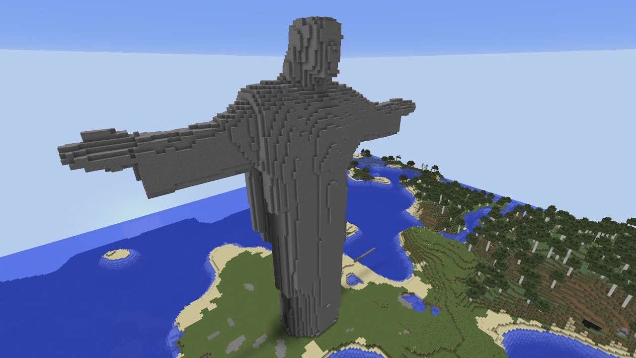 Famous 2b2t Jesus Statue Remade with Baritone