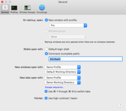 My Recommended General Settings for Terminal